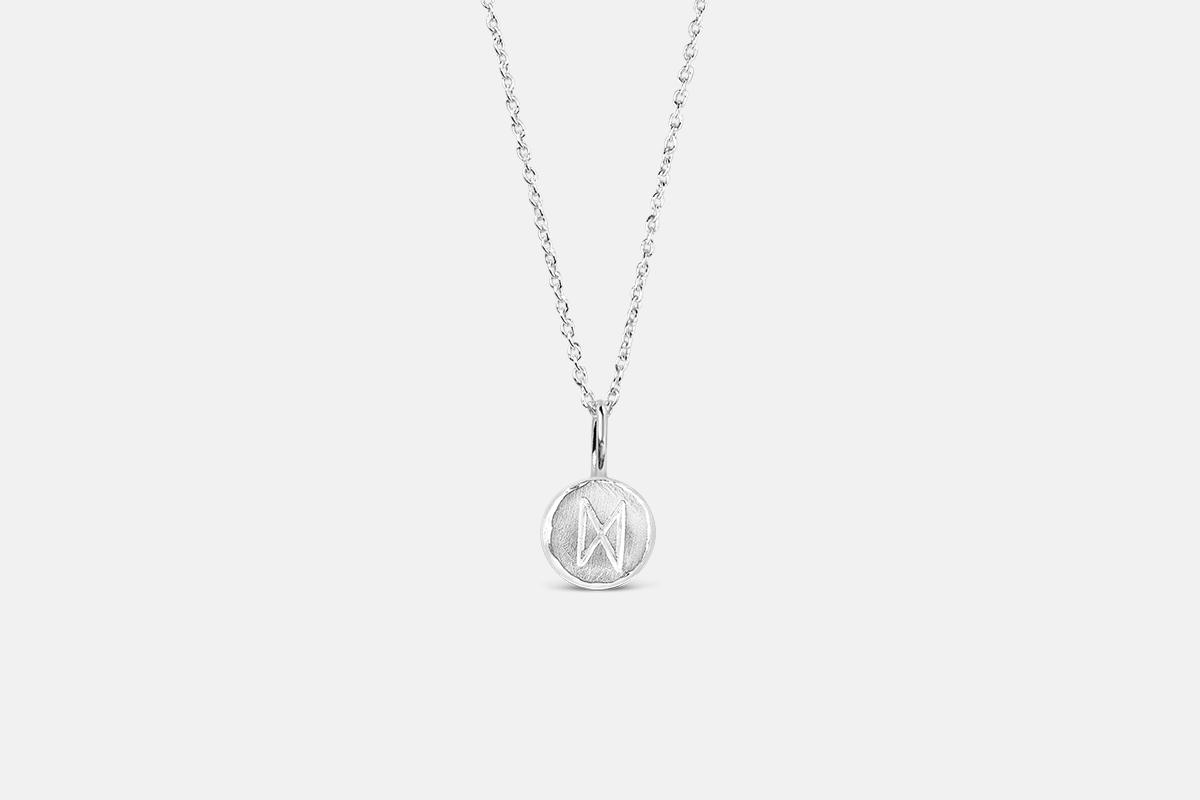 Inspiration necklace sterling silver dagaz futhark rune