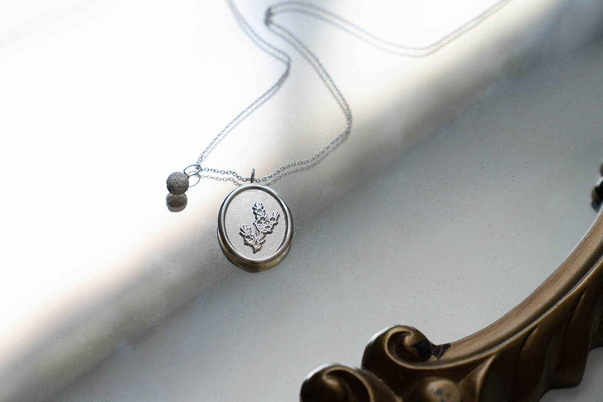 juniper protection positivity charm necklace